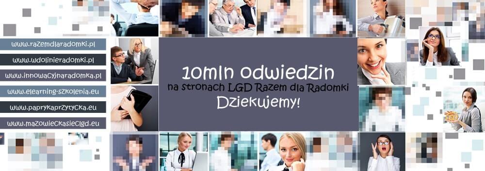 10 mln odwiedzin na stronach Stowarzyszenia LGD Razem dla Radomki
