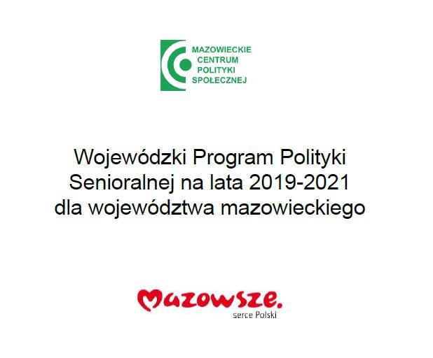 Wojewódzki Program Polityki Senioralnej na lata 2019-2021 dla województwa mazowieckiego